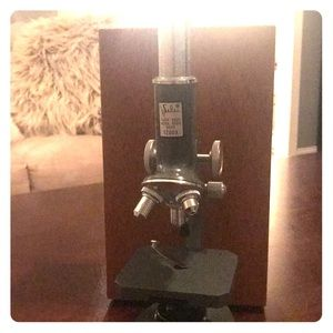 Vintage Selsi microscope with original wooden box